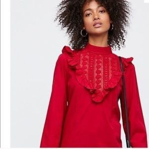 NWT!!  Free People Red open back dress